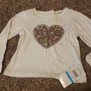 3/$12 Heart baby togs top
